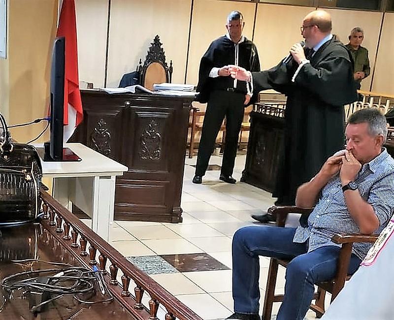 O fazendeiro Décio José Barroso Nunes durante o julgamento em Belém