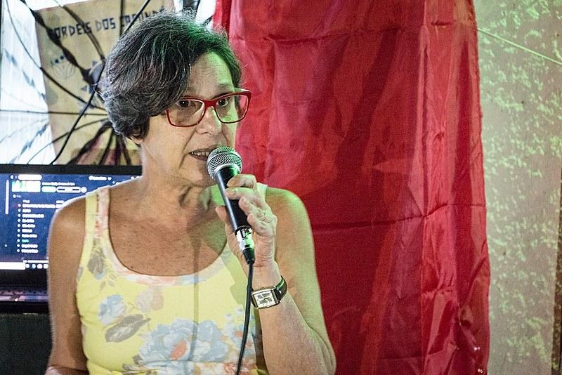 Myriam Salum resolveu entrar para a militância com mais de 60 anos, seguindo o exemplo de seu filho