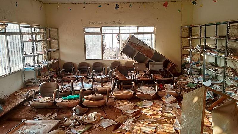 Registro feito na região logo após a tragédia