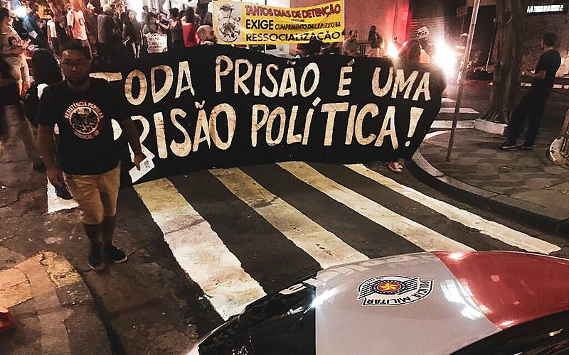 Ato saiu da praça da Sé e seguiu pela região central, passando por sedes de órgãos do aparato policial e judiciário de São Paulo