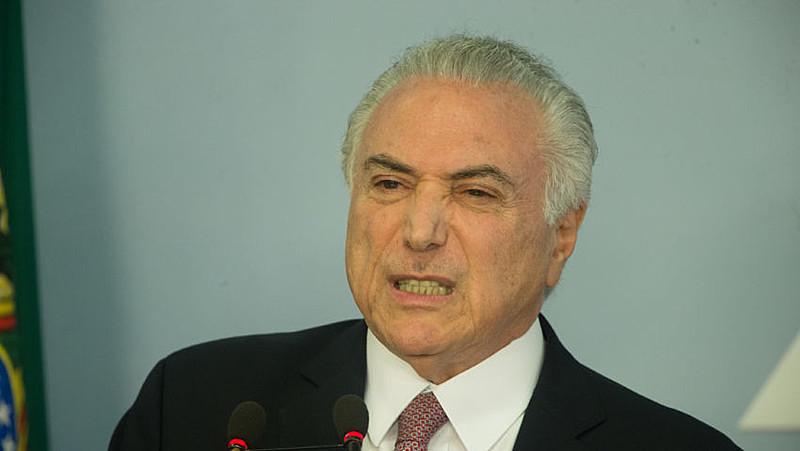 Michel Temer, em pronunciamento após divulgação de denúncia pela Procuradoria Geral da República