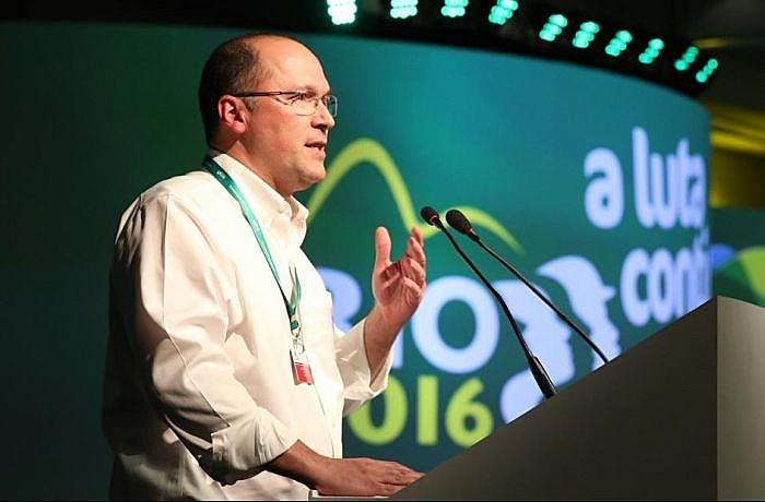Davos 2020: Valter Sanchez, secretário-geral da IndustriALL Global Union, participa do Fórum Econômico Mundial na Suíça