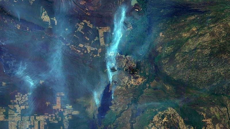 Cicatriz de queimada na cidade de Corumbá (MS)