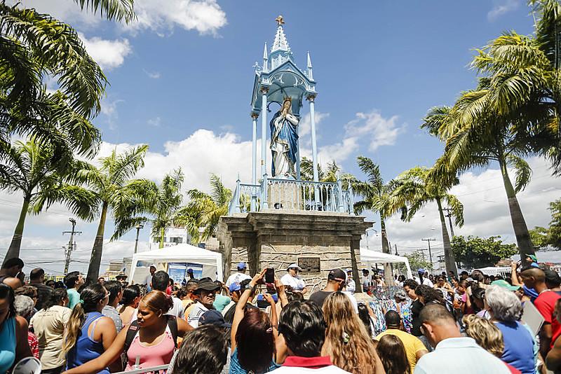 O festejo em homenagem à santa no Recife começou em 1904, ano do cinquentenário do dogma da Imaculada Conceição no Brasil