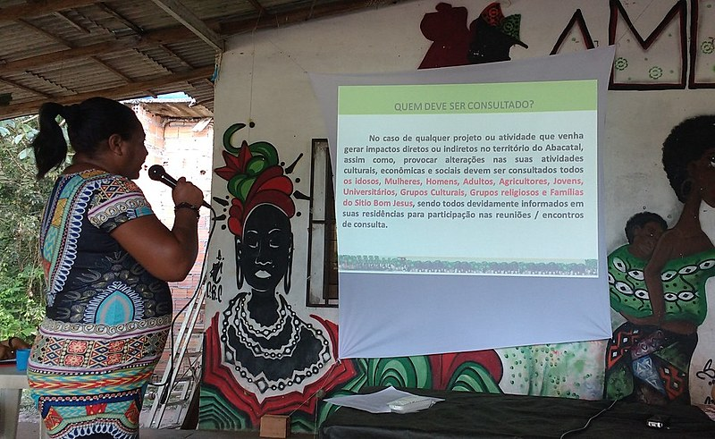 Comunidade quilombola de Abacatal construíndo seu Protocolo de Consulta Prévia, Livre e Informada