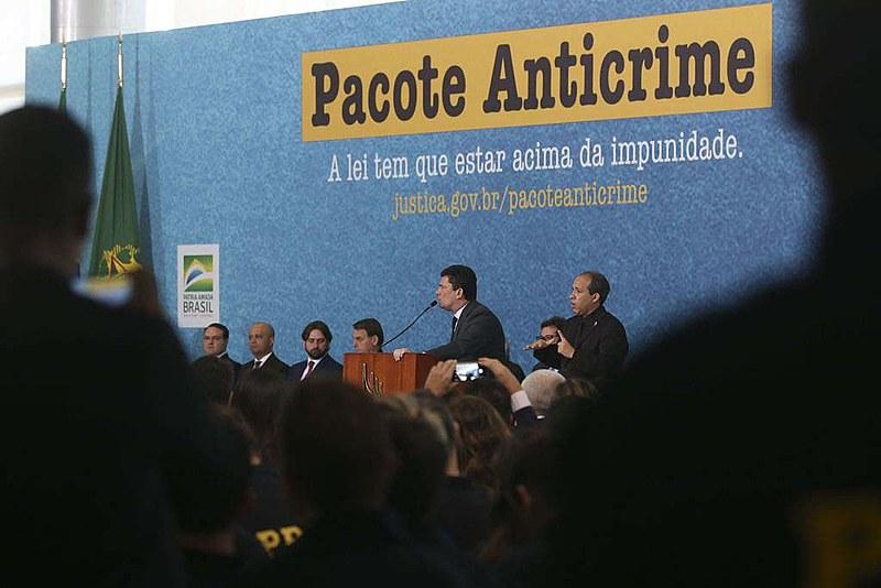 Lançamento de campanha oficial do governo sobre Pacote Anticrime em Brasília (DF)