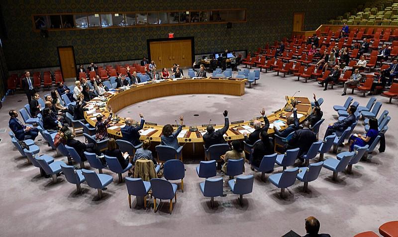EUA  impediram a adoção unânime de uma declaração proposta pelo Reino Unido condenando o bombardeio em Tajoura, perto de Trípoli