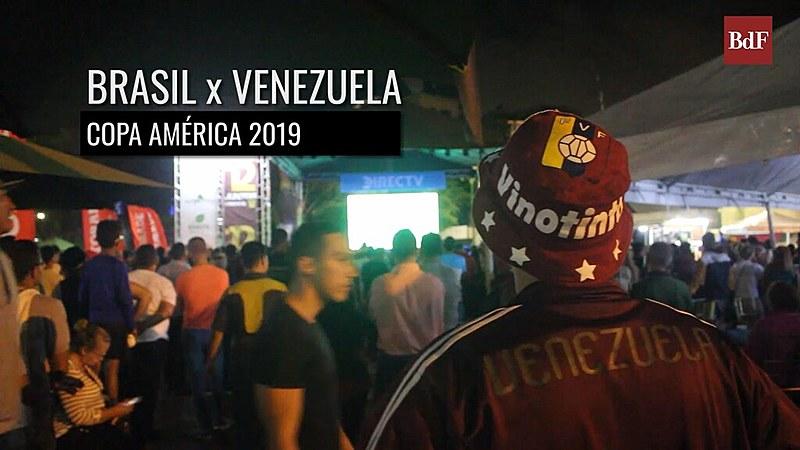 Torcedores venezuelanos celebram momento de união para apoiar a seleção Vinho Tinto na Copa América