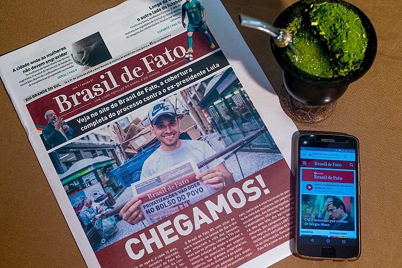 Primeira edição do Brasil de Fato Rio Grande do Sul