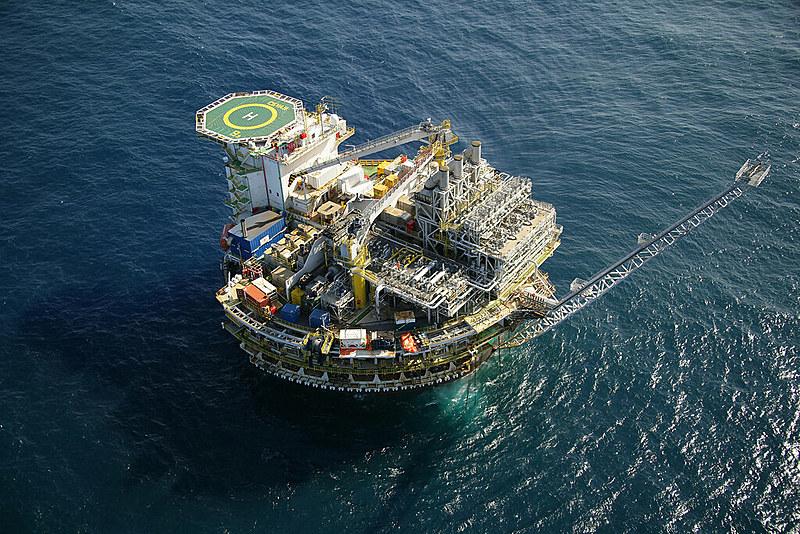 Plataforma marítima da Petrobras