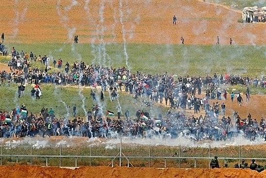 Forças militares israelenses atacaram marcha de palestinos nesta sexta-feira (30) em Gaza