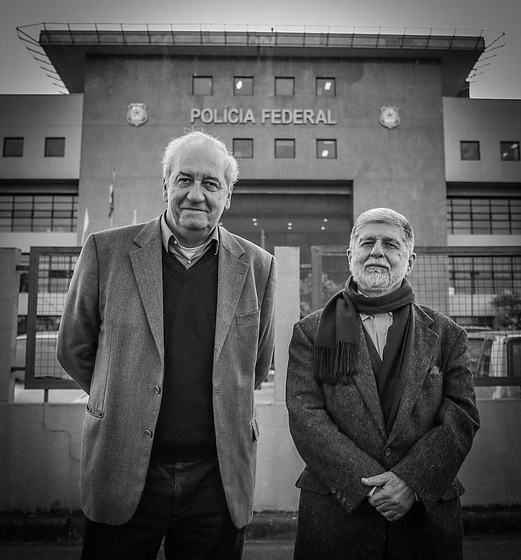 Os ex-ministros Celso Amorim e Franklin Martins visitam Lula nesta quinta-feira (12) nas dependências da PF em Curitiba.