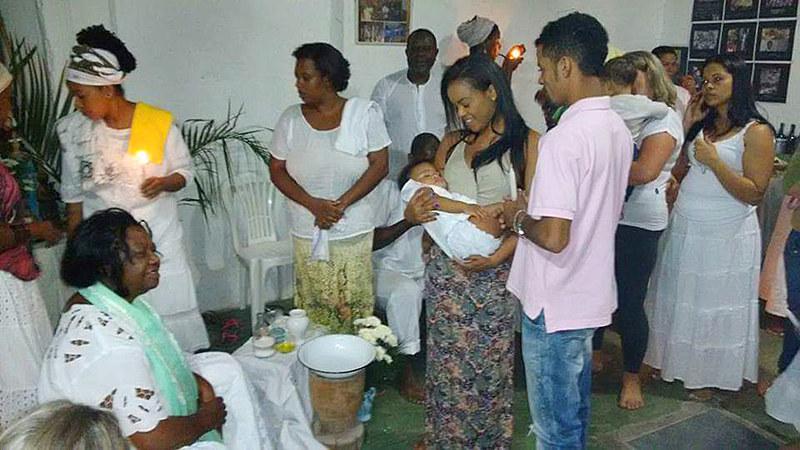 Crianças das famílias quilombolas serão batizadas pelo Pai Benedito.