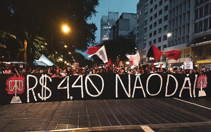Cinco pessoas foram detidas na manifestação do Movimento Passe Livre