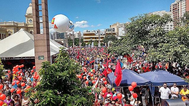 Movilización en Belo Horizonte (MG) reunió cerca de 150 mil personas contra cambios en la Pensiones propuestas por el gobierno Temer