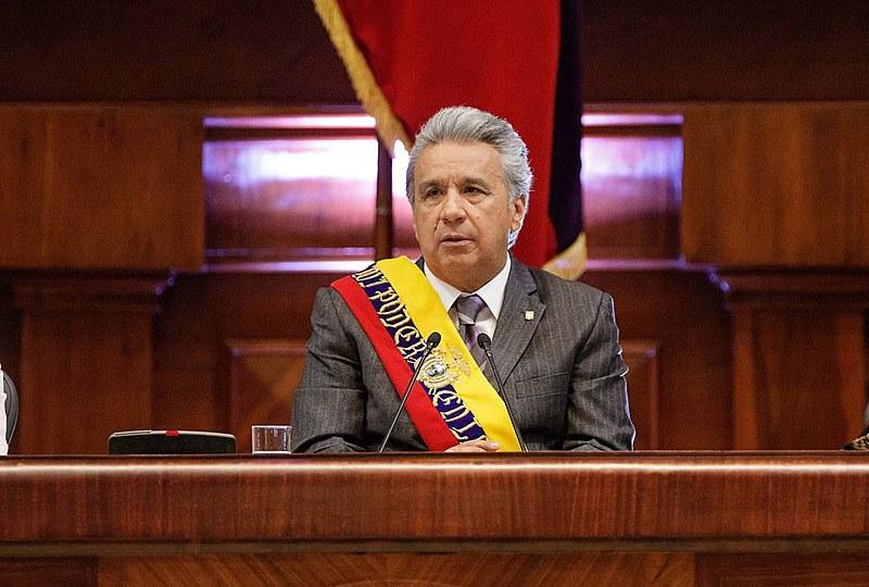 Lenin Moreno na Assembleia Nacional em Quito, em maio de 2018