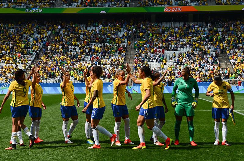 Jogo de futebol feminino, Brasil x Canadá, na Arena Corinthians durante os Jogos Olímpicos Rio 2016