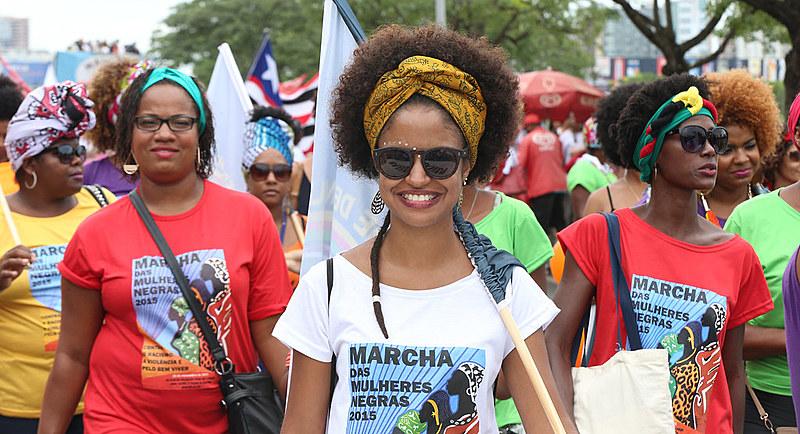 Marcha das Mulheres Negras em Brasília, no ano de 2015