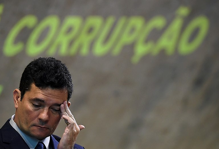 Sérgio Moro participa do Simpósio Nacional de Combate à Corrupção no Centro Cultural FGV, Rio de Janeiro, em novembro de 2018