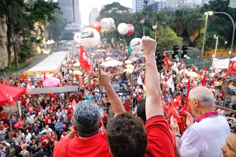 Pela primeira vez, o eventofoi organizado coletivamente pelas principais centrais sindicais do país