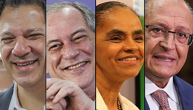 Los cuatro presidenciables empatados en segundo lugar
