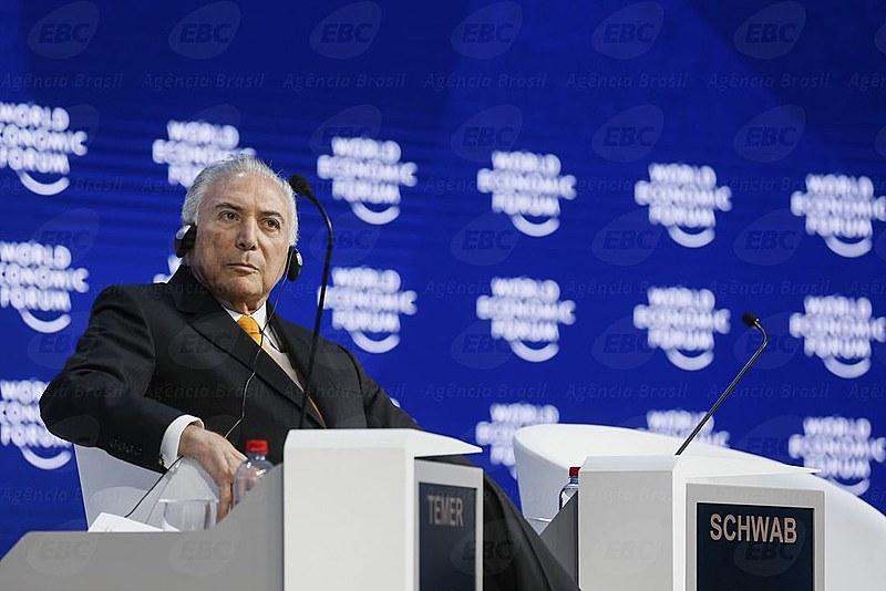 Foi com o apoio de grande parte da elite internacional que se encontra em Davos que foi possível Temer realizar no Brasil o golpe.