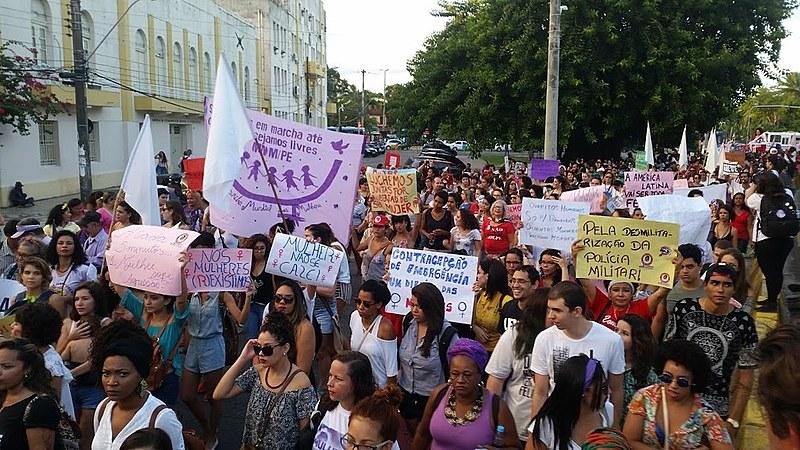 As mulheres sairão em cortejo pelas ruas do centro do Recife em memória às vítimas de violência