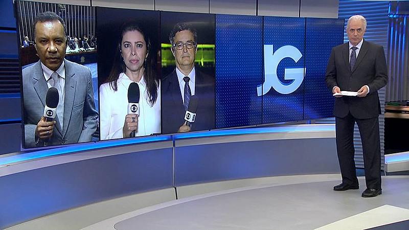 Jornal da Globo, o último noticiário do dia da emissora, teve duas edições no dia da divulgação da denúncia contra Temer