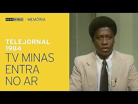O Telejornal 1984, que era exibido em rede com todas as emissoras públicas do país, destacava o ano da inauguração da Rede Minas