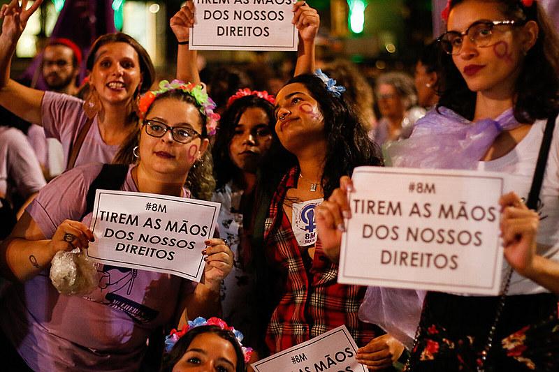 De forma pacífica, a manifestação em São Paulo terminou por volta das 20h em frente ao prédio da Presidência da República.