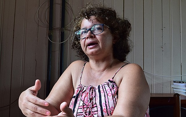Angela Mendes spoke about the Alliance of Forest Peoples, established to strengthen resistance against Bolsonaro administration's attacks
