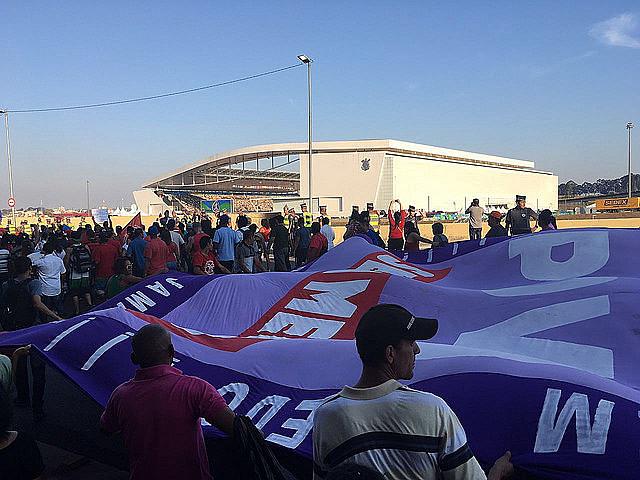 """Acto """"Fuera Temer SP, #OcupaOlimpiada, frente al Itaquerão"""