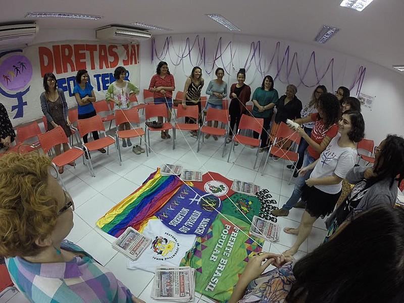 As atividades da Escola de Formação Popular Feminista estão acontecendo na sede da Central Única dos Trabalhadores (CUT)