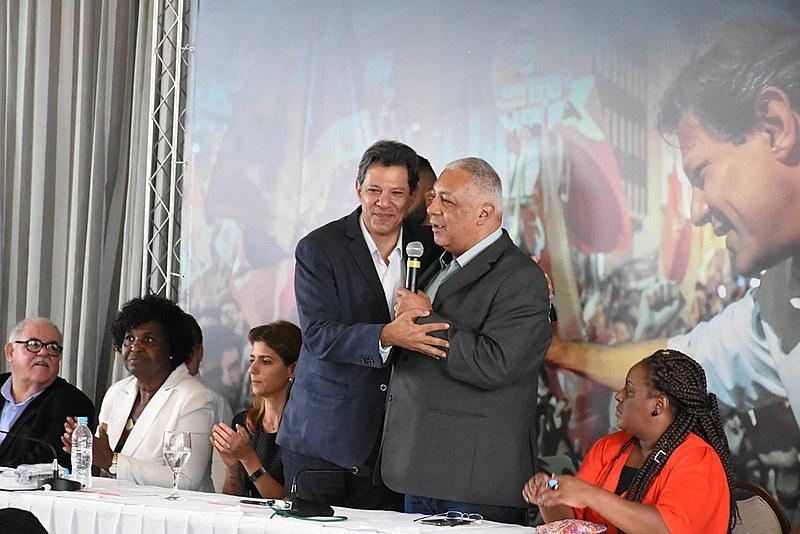 Ato de pastores evangélicos com Haddad aconteceu no centro de São Paulo