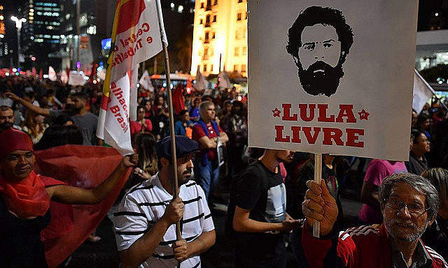 Protesters will hold demonstrations demanding freedom for Lula in the next several days to mark one year since the ex-president's prison