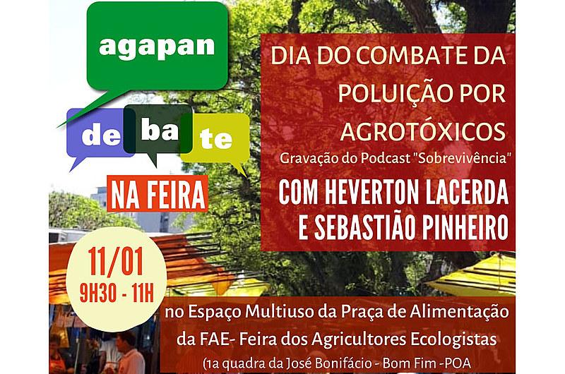 Evento ocorre na tradicional feira de orgânicos de Porto Alegre no Dia do Combate da Poluição por Agrotóxicos