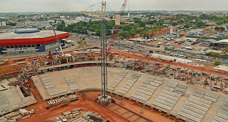 Empreiteira Andrade Gutierrez, que construiu o estádio Arena da Amazônia (foto), firmou quatro acordos de leniência