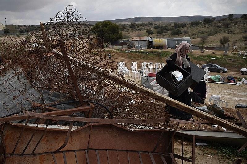 Casas da vila beduína de Umm Al Hiran foram destruídas no início deste ano pelo governo de Israel