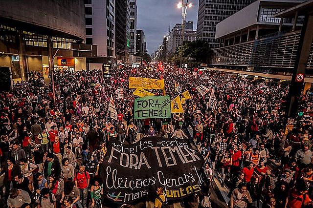 La agenda de las manifestaciones fue la crítica a Temer y a sus propuestas