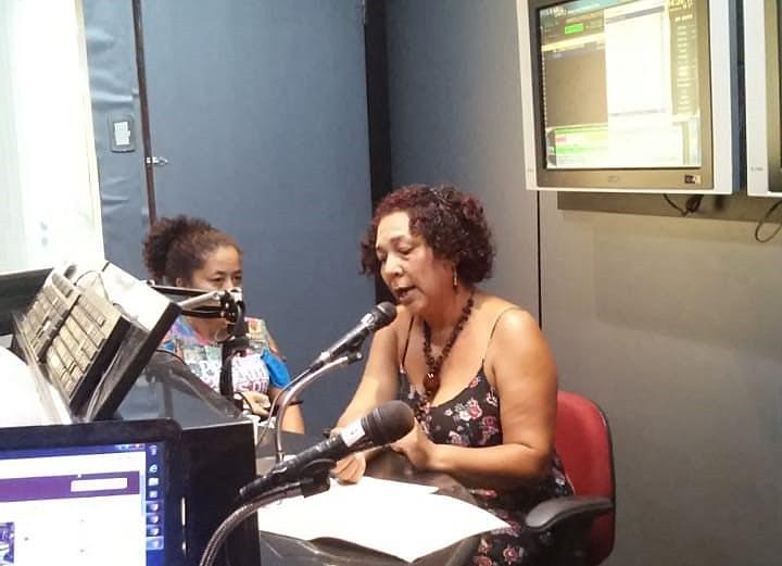 Rubneuza falou sobre o trabalho que o MST realiza com as crianças sem terrinhas