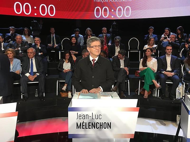 Jean-Luc Mélenchon, da coalizão de esquerda França Insubmissa