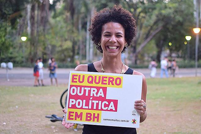"""""""El papel de la izquierda es comunicarles a las personas que existe una forma de hacer política de manera innovadora y democrática"""", dice Áurea"""