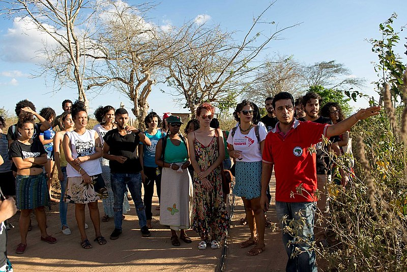 Os visitantes conheceram uma área de 50 hectares, onde 10 famílias assentadas plantam milho, macaxeira, abacaxi e palma.
