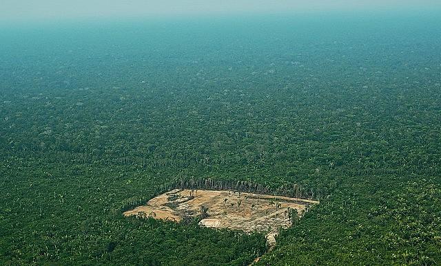 Imagem aérea do desmatamento na Floresta Amazônica, em 22 de setembro de 2017