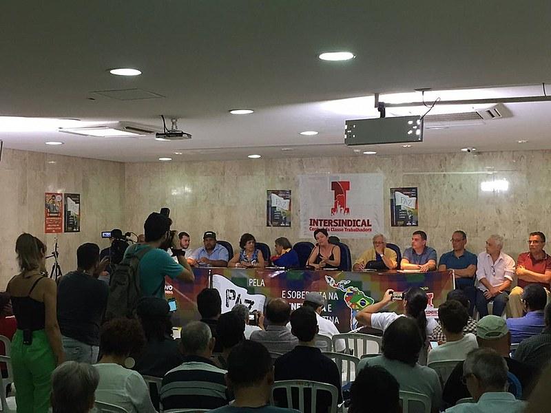 Evento foi organizado pela Intersindical e apoiado pelas Frentes Povo Sem Medo e Brasil Popular