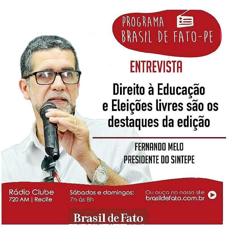 Na entrevista conversamos sobre Reforma do Ensino Médio, Escola sem Partido e resistência política.