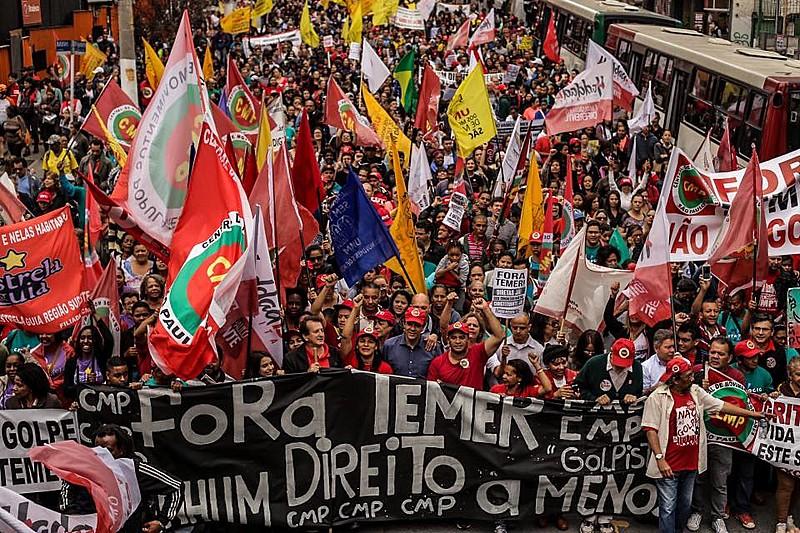 O objetivo era convocar a população para resistir à retirada de direitos que se anunciam com o impeachment de Dilma rousseff.