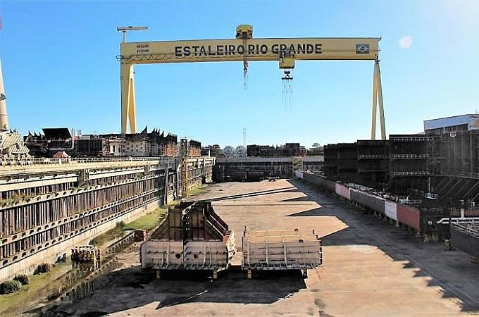 Polo Naval, em Rio Grande, esperança de superação do atraso secular da Metade Sul, foi transformado em sucata após o golpé de 2016