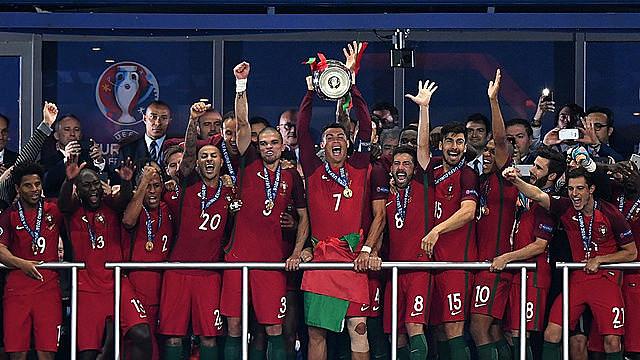 Na Seleção Portuguesa, atual campeã da Eurocopa, a esperança de gols é Cristiano Ronaldo