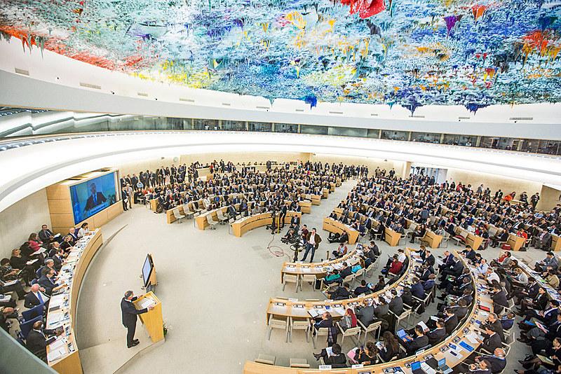 Câmara do Conselho de Direitos Humanos em Genebra, na Suíça